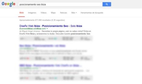 posicionamiento web seo empresa local ibiza